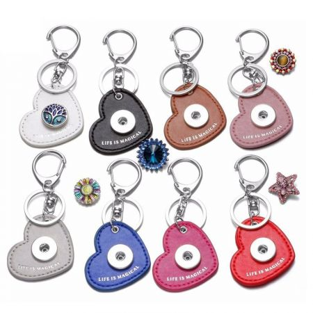 snap jewelry keychain