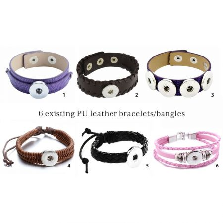 leather snap bracelet