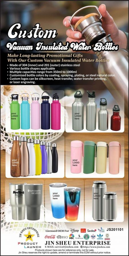 Custom Vacuum Insulated Water Bottles - Personalised Thermal Water Bottle
