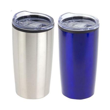 Stainless Steel Tumbler with Lid - Custom coffee travel mug