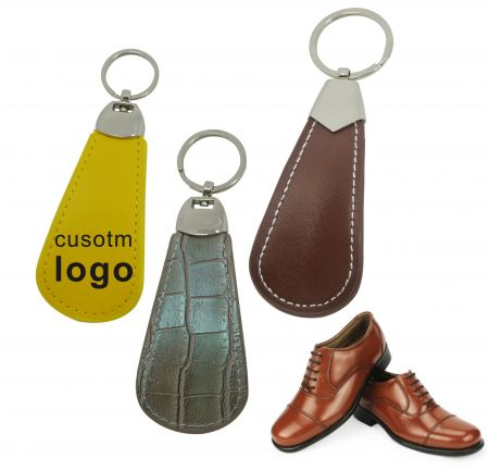 LOGO Leather Shoe Horn - Personalized Shoe Horn