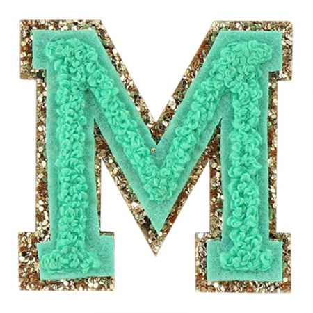 Glitter Letters Chenille Patches Wholesale - Iron on Chenille Patches