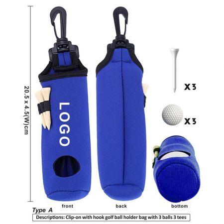 custom neoprene golf ball pouch