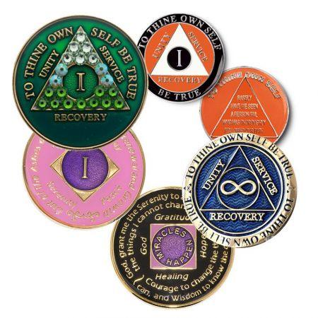 Custom Recovery AA Coins / AA Medallions AA Tokens - AA 24 hour chip