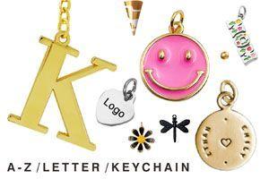 Bulk A-Z Capital Letter Keychain