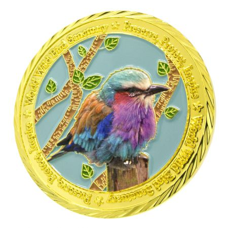 gold plated 3D Design with Digital Printing coin