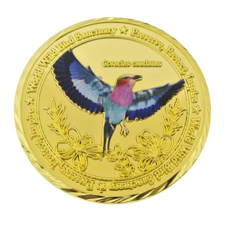 3D Design with Digital Printing coin in gold plated