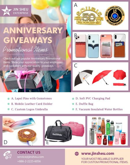 Anniversary Giveaways Promotional Items - Promotional Items for Anniversary Giveaways
