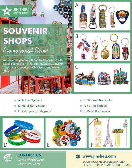 Souvenir Shops Promotional Items - Promotional Items for Souvenir Shops