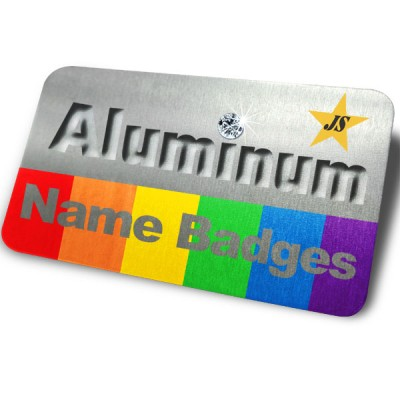 Aluminum Name Badges - Aluminum Name Badges
