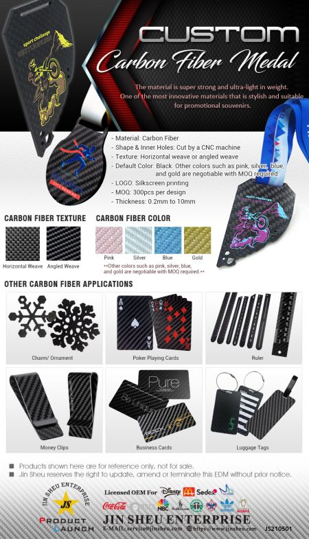Personalized Carbon Fiber Medals - Carbon Fiber that is Professional, Stylish and Sophisticated