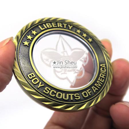 Commemorative Coins With Crystal - Antique Metal Crystal Coins