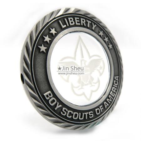 zinc alloy crystal coins