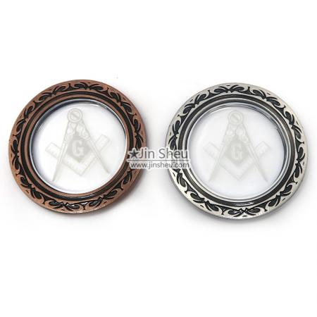 masonic crystal coins