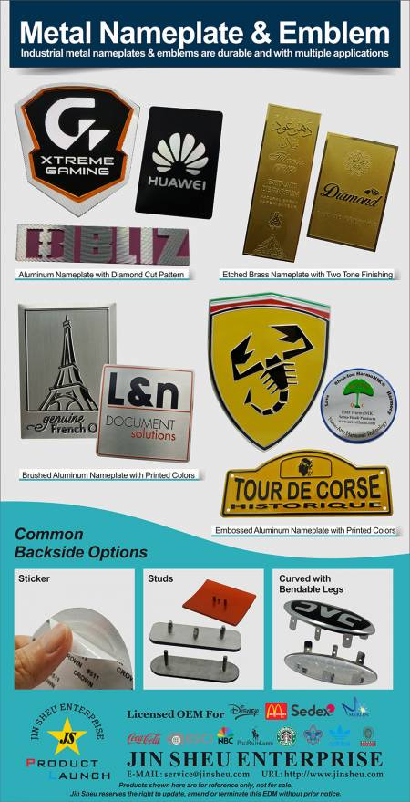 Etched Brass & Embossed Custom Made Aluminum Name Plates - Custom made Metal Name Plate Supplier