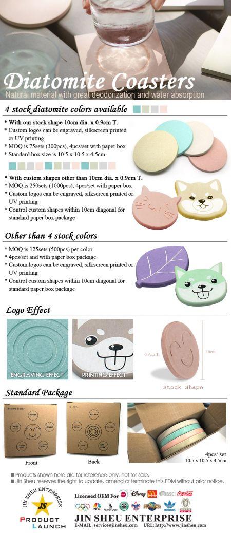 Diatomite Coasters - Custom Logo Diatomite Coasters