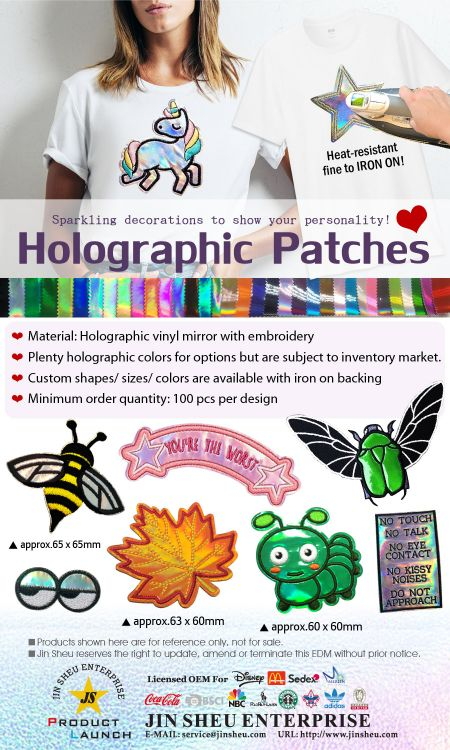 Custom Embroidered Holographic Patches - Custom Embroidered Holographic Patches