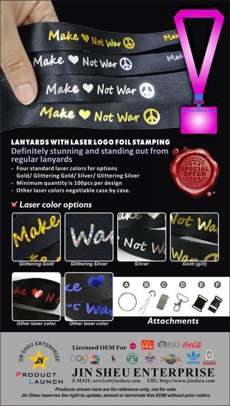 Komplettanbieter von hochwertigem Schlüsselband mit Laser-Logo-Folienprägung - Kundenspezifisches Schlüsselband mit Ihrem Logo