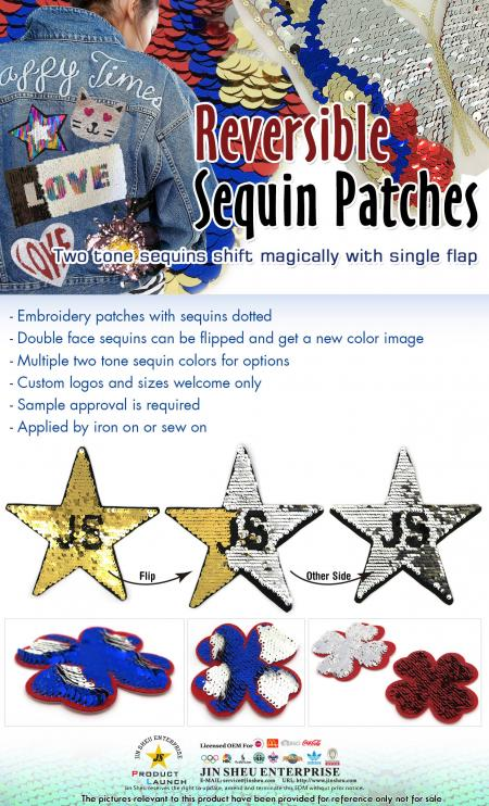 Reversible Sequin Patches - Reversible Sequin Patches
