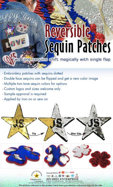 Reversible Sequin Patches - Reversible Sequin Patches