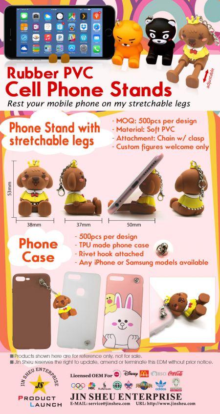 Novelty Rubber Mobile Phone Stands - Novelty Rubber Mobile Phone Stands