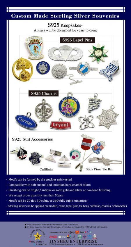 Custom Made Sterling Silver Souvenirs - Custom Made Sterling Silver Products