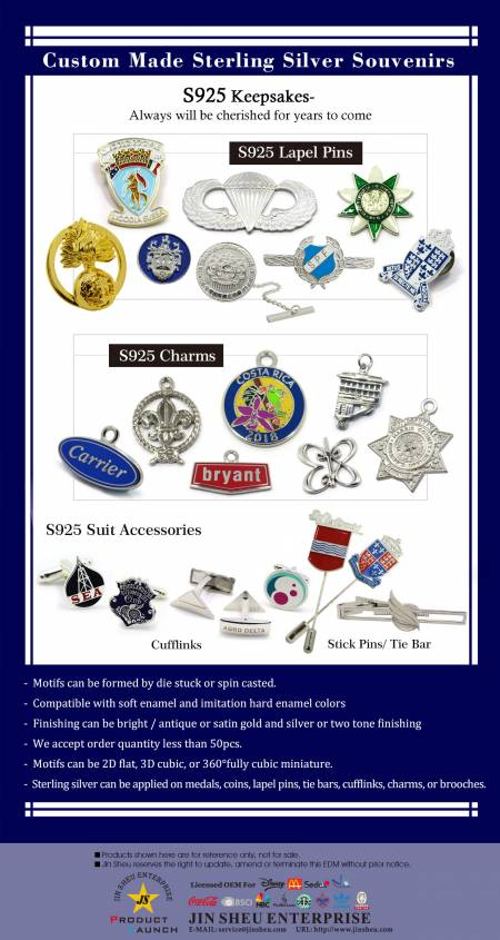 Custom Made Sterling Silver Souvenirs - Custom Made Sterling Silver Products