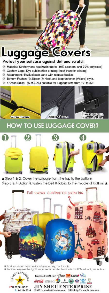 Promotional Protective Suitcase Covers - Promotional Protective Suitcase Covers