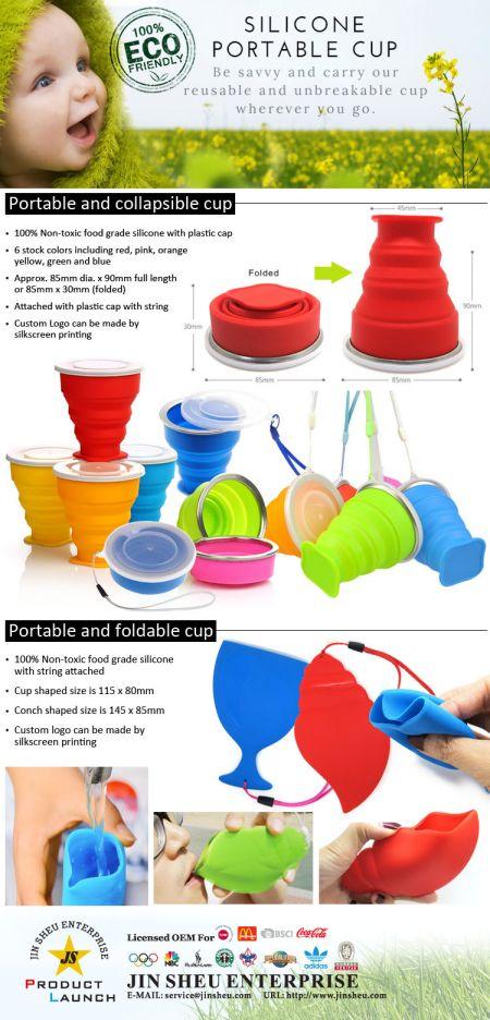Silicone Portable Cup - Silicone Portable Cup