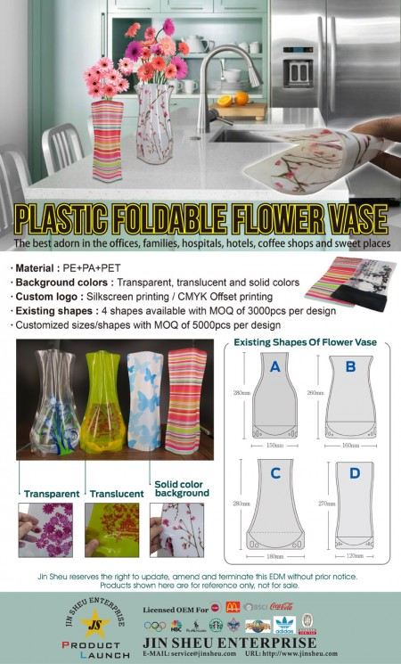 Foldable Plastic Flower Vases - Foldable Plastic Flower Vases