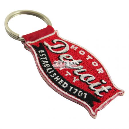 Embroidery Name Keychains - Personalized Embroidery Name Key Tags