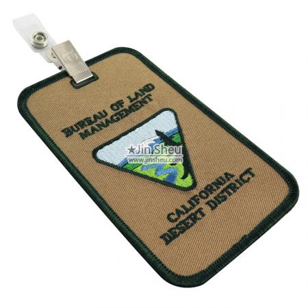 Embroidery ID Tags - Embroidery ID Tags With Clips