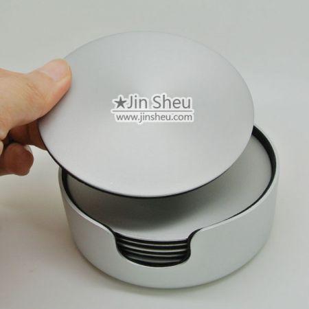 Personalized Engraved Round Aluminum Coasters With EVA PAD - Engraved Round Aluminium Coasters