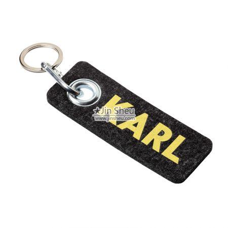 Custom Felt Keytags - Soft wool felt key ring
