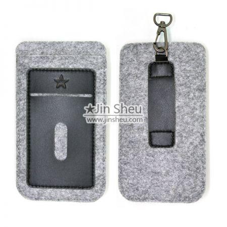 PU Leather and Felt iPhone 6/7 Sleeves - Felt leather iphone7 sleeve