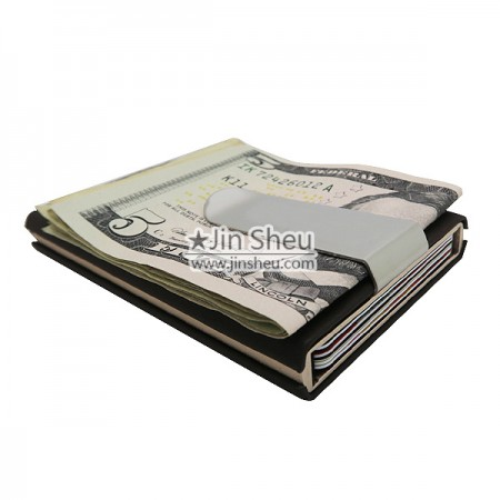 Card Holder with Money Clip - Card Holder with Metal Clip