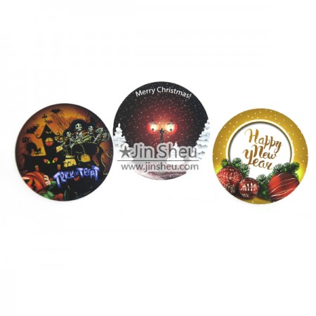 Silicone Coaster with IMD Image - In-mold Printing Silicone Coaster