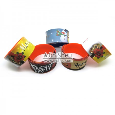 Silicone Slap Band with IMD - In-mold Printing Silicone slap band
