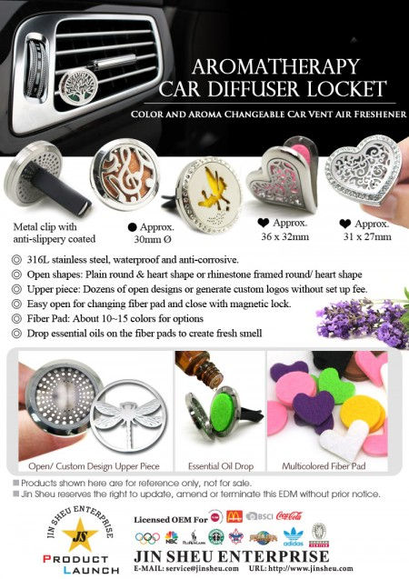 Aromatherapy Car Diffuser Locket - Aromatherapy Car Diffuser Locket