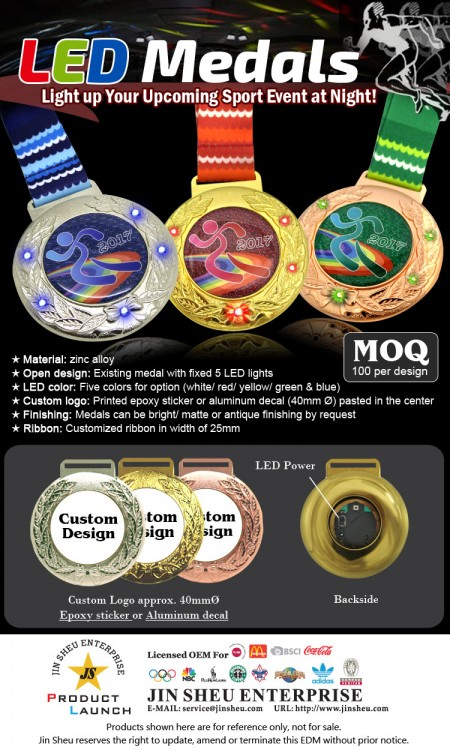 LED Flashing Medals - LED Flashing Medals