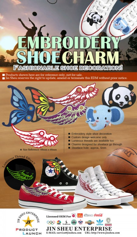 Embroidery Shoe Charms - Embroidery Shoe Charms