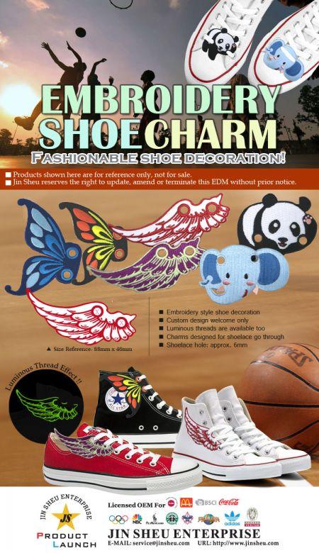 Embroidery Shoe Charms - Embroidery Shoe Charms