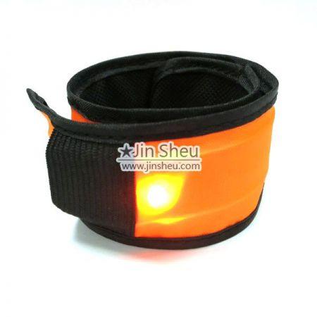 LED Flashing Slap Bracelet - Night safety light up wristband for cycling & jogging etc.