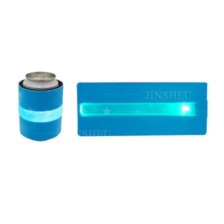 LED Slap Wrap Neoprene Can Cooler - Custom printing LED slap can cooler