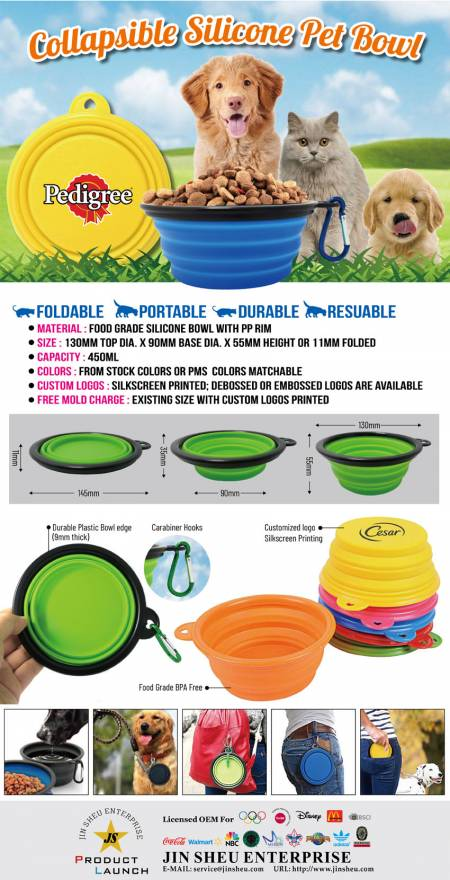 Collapsible Silicone Pet Bowl - Collapsible Silicone Pet Bowl