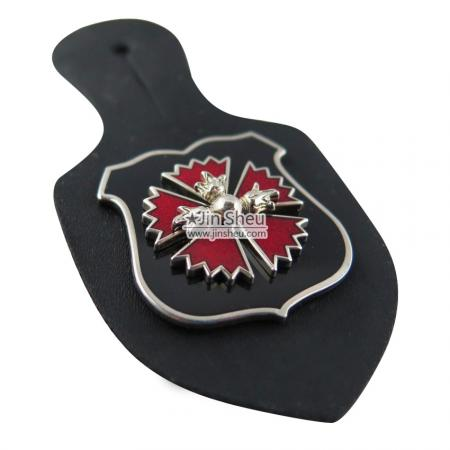 Custom Emblem Badge Holders - Promotional Leather Badge Holders Factory