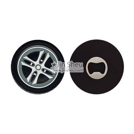 Car Wheel PVC Bottle Opener - Car Wheel PVC Bottle Opener