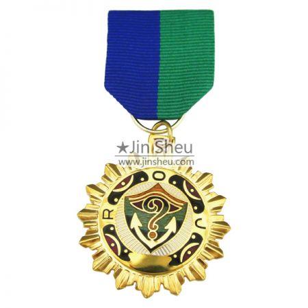 gold military medal