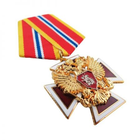 Medals with Short Ribbon Drape - Jin Sheu has always been really proud of our military medals and badges because they are the best representing products for us to outshine our competitors.