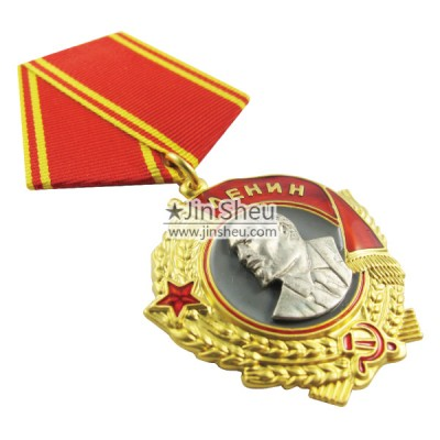 die struck army chest medal